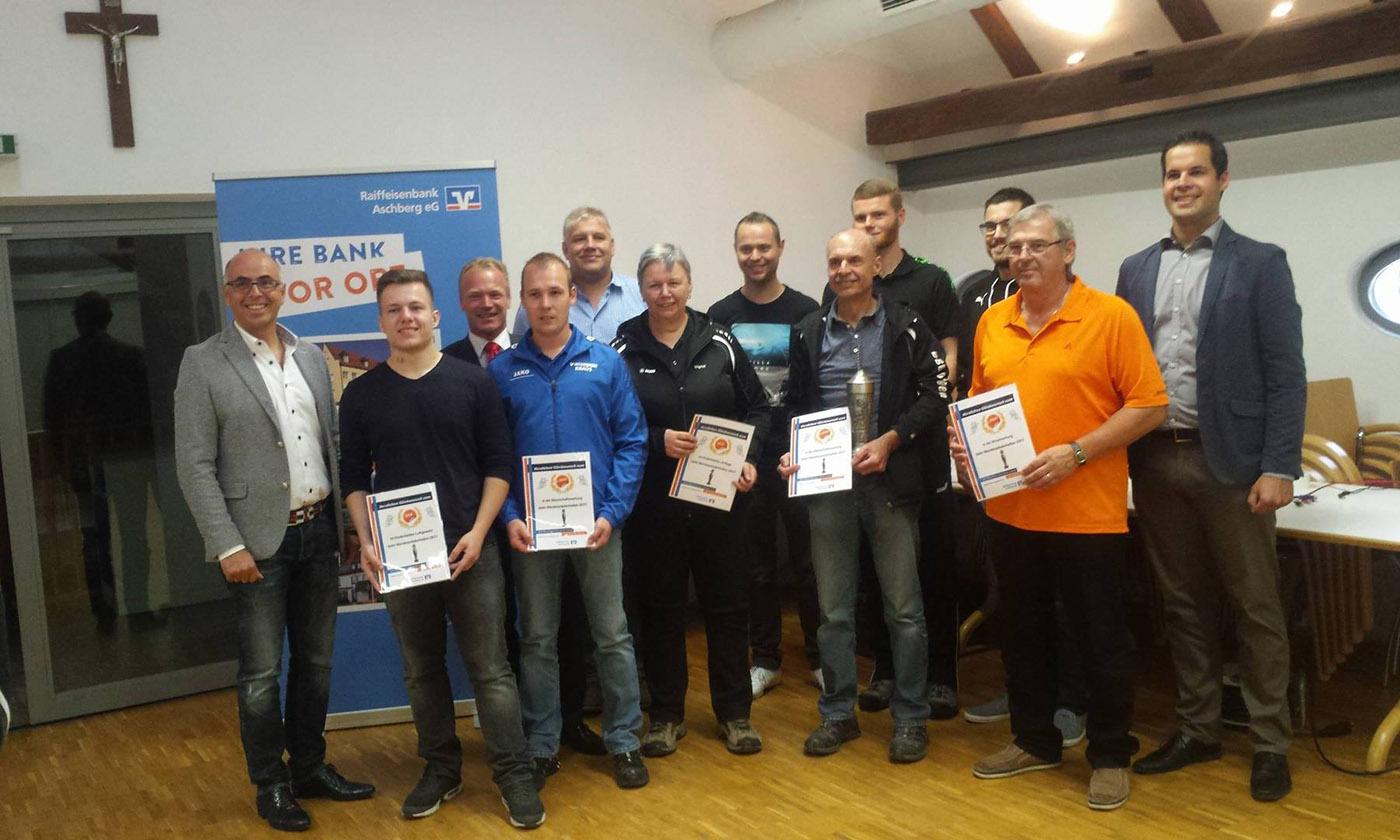 Sieger beim Wanderpokalschießen der Raiffeisenbank Aschberg 2017 in Offingen