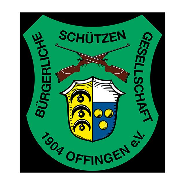 Wappen mit grünem Hintergrund