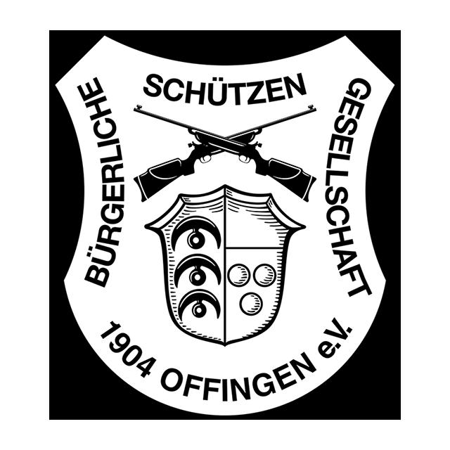 Wappen in schwarz/weiß